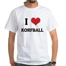I Love Korfball White T-shirt