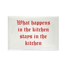 What happens in the kitchen-Old red Magnets