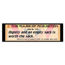 FERENGI RULES 109 Bumper Sticker