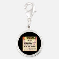 FERENGI RULES 76 Silver Round Charm