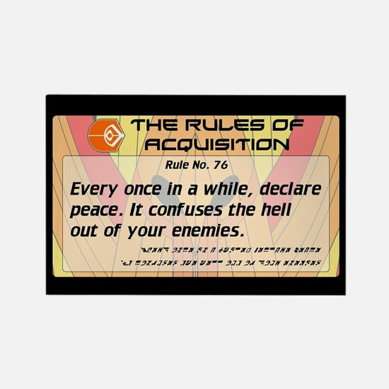 FERENGI RULES 76 Rectangle Magnet
