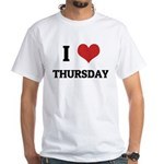I Love Thursday White T-shirt