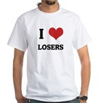 I Love Losers White T-shirt