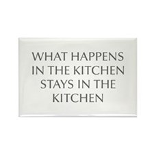 What happens in the kitchen-Opt gray Magnets