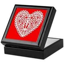 White Valentine Heart Keepsake Box