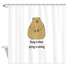 hang in there spring is coming Shower Curtain