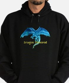 Dragon Powered Blue Hoodie (dark)