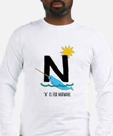 N Is for Narwhal Long Sleeve T-Shirt