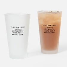 RELIEVE STRESS wine yoga pants-Bod black Drinking