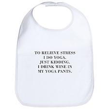 RELIEVE STRESS wine yoga pants-Bod black Bib