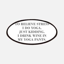 RELIEVE STRESS wine yoga pants-Bod gray Patches