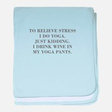 RELIEVE STRESS wine yoga pants-Bod gray baby blank