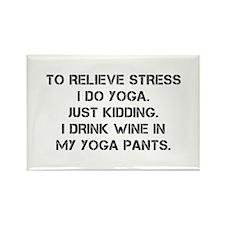 RELIEVE STRESS wine yoga pants-Cap black Magnets