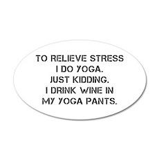 RELIEVE STRESS wine yoga pants-Cap black Wall Deca