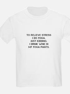 RELIEVE STRESS wine yoga pants-Cap black T-Shirt