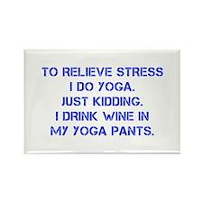 RELIEVE STRESS wine yoga pants-Cap blue Magnets