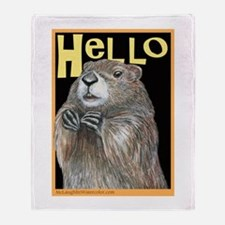 Groundhog Coming Up Throw Blanket