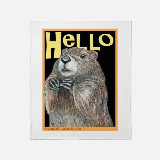 Groundhog Coming Up Throw Blanket
