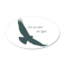 Let Go & Let God Inspirational Quote Soaring Hawk