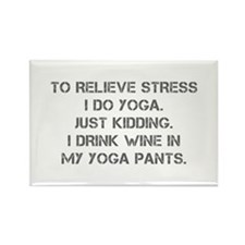 RELIEVE STRESS wine yoga pants-Cap gray Magnets
