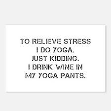 RELIEVE STRESS wine yoga pants-Cap gray Postcards