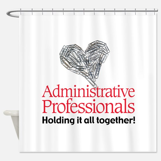 Admin Prof together for color.png Shower Curtain