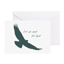 Let Go & God Inspirational Quote Greeting Card