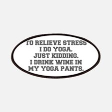 RELIEVE STRESS wine yoga pants-Fre gray Patches