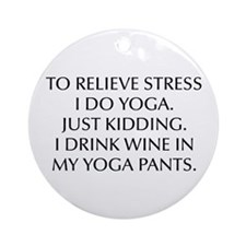 RELIEVE STRESS wine yoga pants-Opt black Ornament