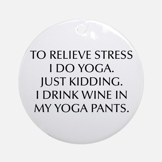 RELIEVE STRESS wine yoga pants-Opt black Ornament