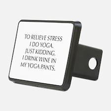 RELIEVE STRESS wine yoga pants-Opt black Hitch Cov