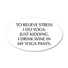 RELIEVE STRESS wine yoga pants-Opt black Wall Deca