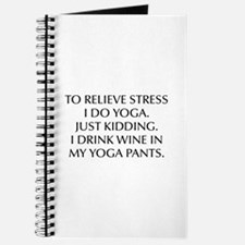 RELIEVE STRESS wine yoga pants-Opt black Journal