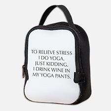 RELIEVE STRESS wine yoga pants-Opt black Neoprene