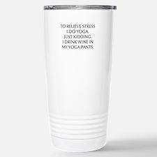 RELIEVE STRESS wine yoga pants-Opt black Travel Mu
