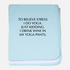 RELIEVE STRESS wine yoga pants-Opt black baby blan
