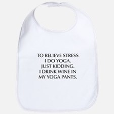 RELIEVE STRESS wine yoga pants-Opt black Bib