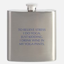 RELIEVE STRESS wine yoga pants-Opt blue Flask
