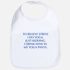 RELIEVE STRESS wine yoga pants-Opt blue Bib