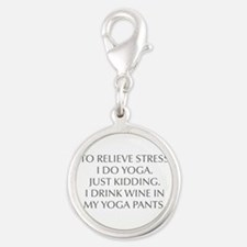 RELIEVE STRESS wine yoga pants-Opt gray Charms