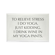 RELIEVE STRESS wine yoga pants-Opt gray Magnets