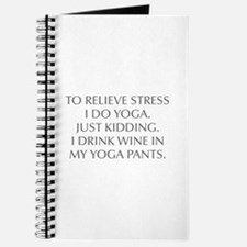 RELIEVE STRESS wine yoga pants-Opt gray Journal