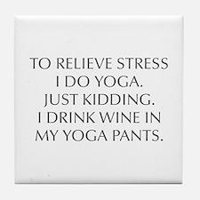 RELIEVE STRESS wine yoga pants-Opt gray Tile Coast