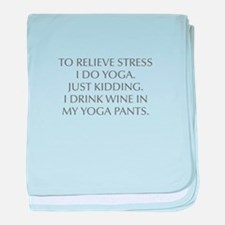 RELIEVE STRESS wine yoga pants-Opt gray baby blank