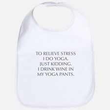 RELIEVE STRESS wine yoga pants-Opt gray Bib
