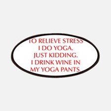 RELIEVE STRESS wine yoga pants-Opt red Patches