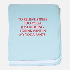 RELIEVE STRESS wine yoga pants-Opt red baby blanke