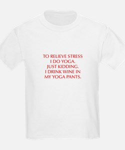 RELIEVE STRESS wine yoga pants-Opt red T-Shirt