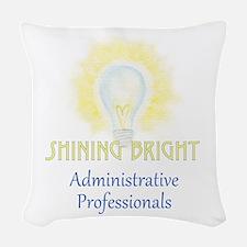 Admin Pro Shine T.png Woven Throw Pillow
