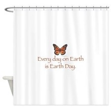 Earth Day butterfly.png Shower Curtain